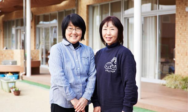 写真左:園長の谷良江さん、写真右:主任の松本理子さん