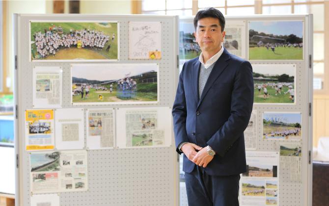 「瑞風歓迎プロジェクト」のリーダーを務める上野暢彦先生。