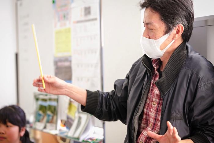 五荘小学校金管バンド 総監督・指揮者の平尾淳さん