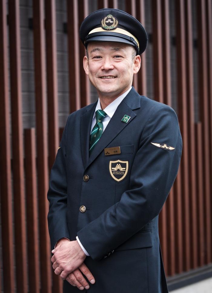 「瑞風バス」 運転係 川崎拓也