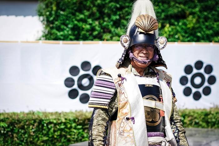 「岩国藩鉄砲隊保存会」会長の村河多丸さん