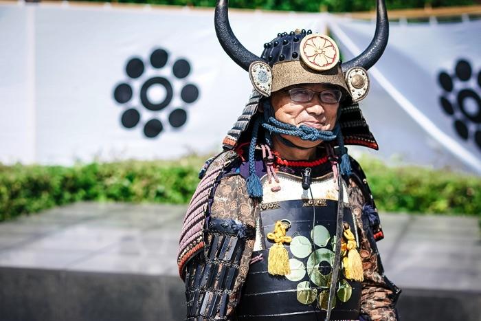 「岩国藩鉄砲隊保存会」隊長の牛島正雄さん