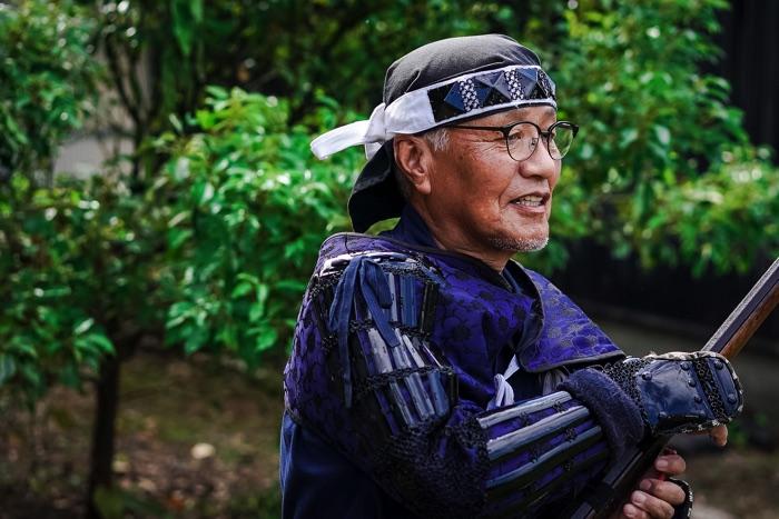 「岩国藩鉄砲隊保存会」事務局の中倉正弘さん
